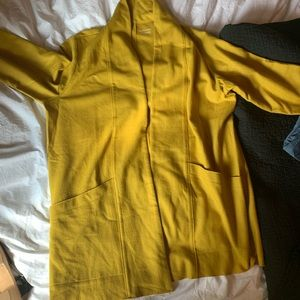 Lightweight soft wool chartreuse jacket/cover